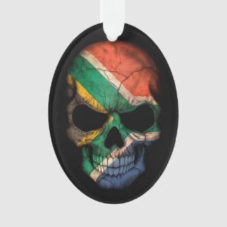South African Flag Skull on Black