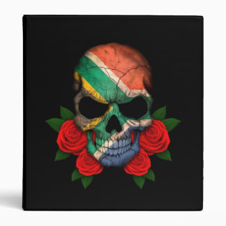 South African Flag Skull with Red Roses Binder
