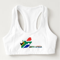South African flag Sports Bra