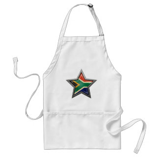 South African Flag Star Apron