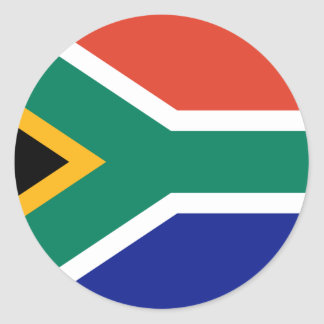 South African Flag Classic Round Sticker