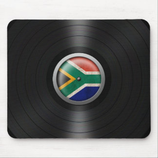 South African Flag Vinyl Record Album Graphic Mouse Pads