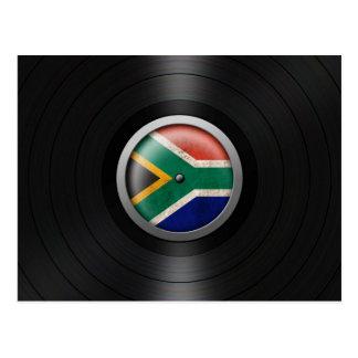 South African Flag Vinyl Record Album Graphic Postcard