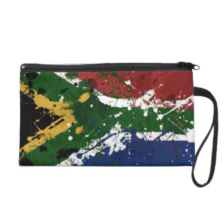 South African Flag Wristlet Purse