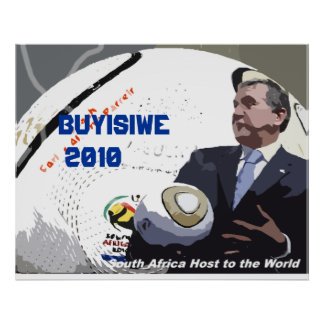 South African Football Coach Poster