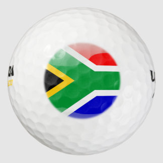 South African glossy flag Golf Balls