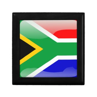 South African glossy flag Keepsake Box