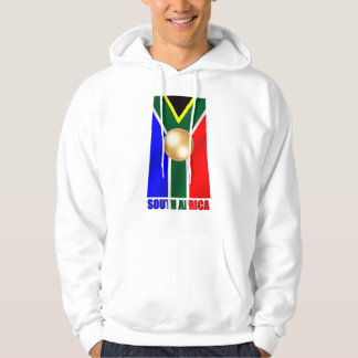South African Gold - World Champions soccer Hooded Pullovers