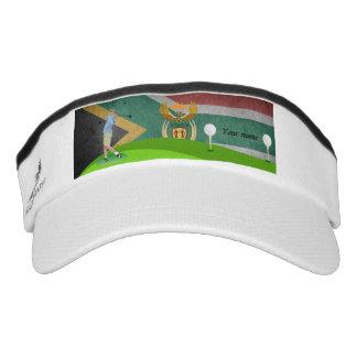 South African golfer Visor