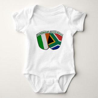 South African & Irish Flag Friendship Badges Baby Bodysuit