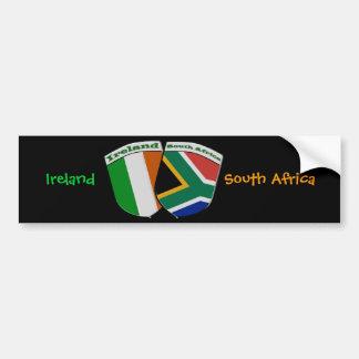South African & Irish Flag Friendship Badges Bumper Sticker