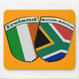 South African & Irish Flag Friendship Badges Mousepads