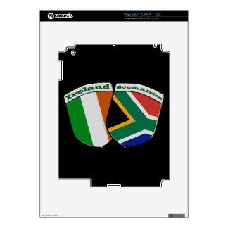 South African & Irish Flag Friendship Badges iPad 2 Skins