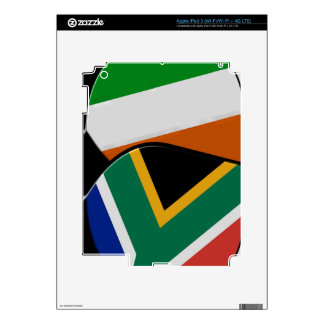 South African & Irish Flag Friendship Badges Decals For iPad 3