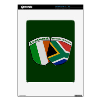 South African & Irish Flag Friendship Badges Decals For The iPad