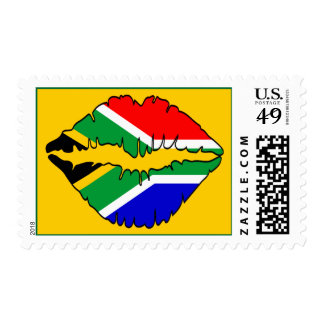 South African Kiss Postage Stamp