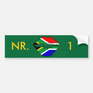 South African Kiss Theme Bumper Stickers