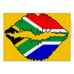 South African Kiss Theme Card