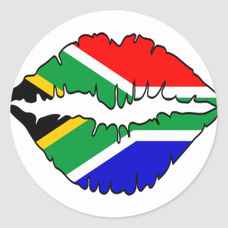 South African Kiss Theme Classic Round Sticker
