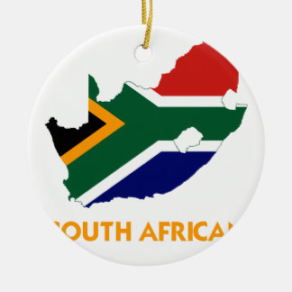 SOUTH AFRICAN MAP CHRISTMAS ORNAMENTS
