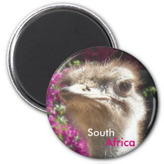 South African Ostrich Customizable Magnet