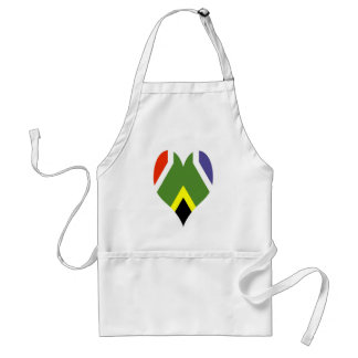 South African peace flag Aprons