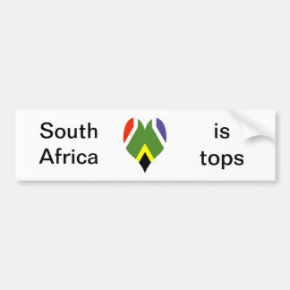 South African peace flag Car Bumper Sticker