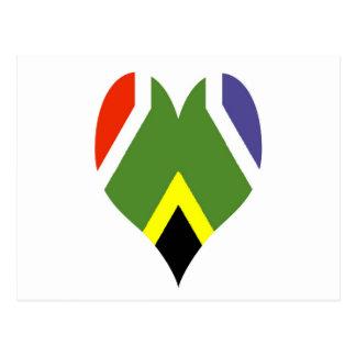 South African peace flag Postcard
