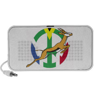 South African peace flag Notebook Speaker