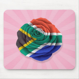 South African Rose Flag on Pink Mousepads