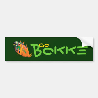 """South African"" rugby supporters ""Go Bokke"" Bumper Sticker"