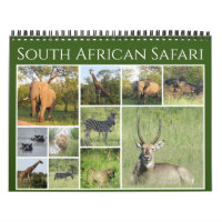 south african safari 2021 calendar