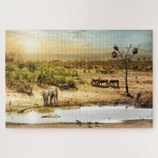 South African Safari Fantasy Land Jigsaw Puzzle