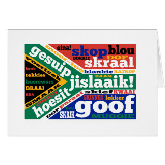 South African slang and colloquialisms Greeting Cards