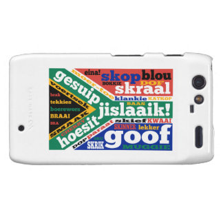 South African slang and colloquialisms Motorola Droid RAZR Cover