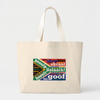 South African slang and colloquialisms Large Tote Bag