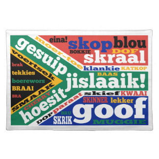 South African slang and colloquialisms Placemat