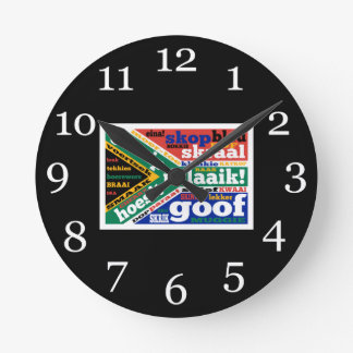 South African slang and colonialisms Round Wallclock