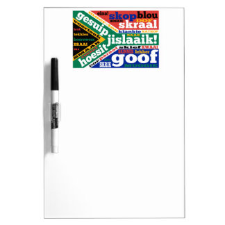 South African slang and colonialisms Dry Erase Board