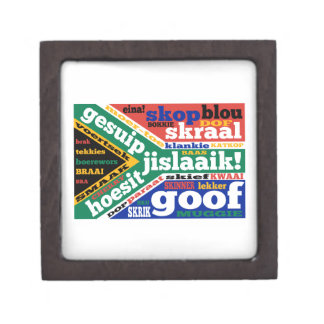 South African slang and colonialisms Jewelry Box