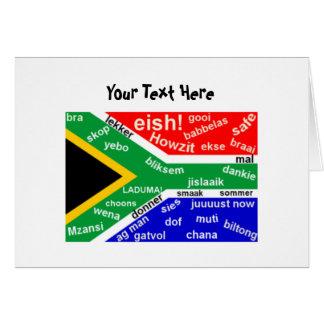 South African Slang Greeting Card - Customizable
