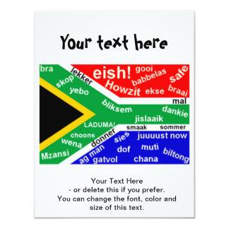 "South African Slang Invitation - Customizable 4.25"" X 5.5"" Invitation Card"