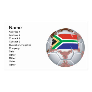 South African Soccer Ball Business Card