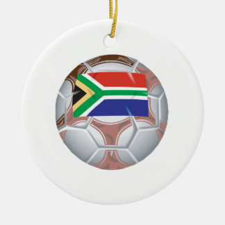 South African Soccer Ball Christmas Ornament