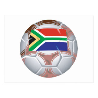 South African Soccer Ball Postcard