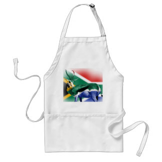 South African Springbock Flag Adult Apron