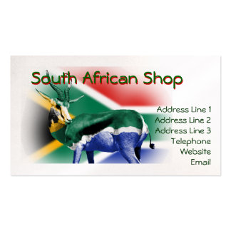 South African Theme Business Card