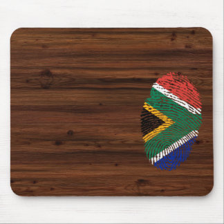 South African touch fingerprint flag Mouse Pad