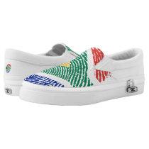 South african touch fingerprint flag Slip-On sneakers