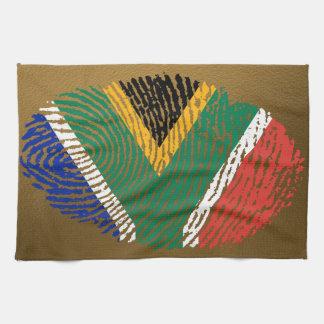 South African touch fingerprint flag Towel
